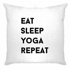 Gym Housse de Coussin Mangez, dormez, Yoga, répétition Slogan