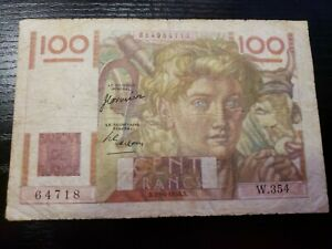 🇫🇷 France 100 Francs 29-6- 1950 P-128 Paper Money Currency Banknote 011621-18