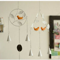 New Retro Hanging Metal Lucky Iron Bell Wind Chime Outdoor Yard Garden Decor