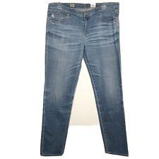 AG Adriano Goldschmied Jeans 32 Stilt Cigarette Leg Skinny Light Wash Denim