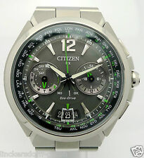 Citizen RX eco drive Satellite Wave señores acero Quartz reloj-aprox. 2010er años