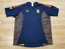 Vintage 90s Adidas Spain National Football Team Mens Soccer Jersey Size 2XL Blue