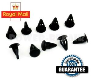 10 x VW GOLF MK1 MK2 POLO PASSAT AUDI 80 100 200 PLASTIC PUSH FIT CLIPS
