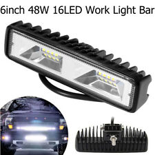 inch Truck SUV  Off-road 12-24V Work Light Bar 48W 16 LED  Flood Beam  Fog Lamp