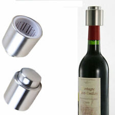 Stainless Steel Vacuum Sealed Wine Storage Bottle Stopper Plug Cap Pump Sealer