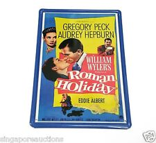 VINTAGE REPRODUCTION ROMAN HOLIDAY AUDREY HEPBURN MINI TIN METAL MOVIE POSTER