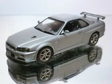 AUTOart NISSAN SKYLINE R34 GTR - GREY METALLIC 1:43 - EXCELLENT - 12/14
