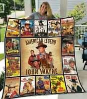 "John Wayne /""Riding Cowboy/"" Fleece Blanket 36x58"