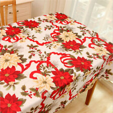 "70"" Rectangle Tablecloth Covers Red Floral Dining Room Kitchen Home Party Decor"