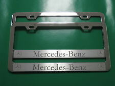 "(2) Brand New "" MERCEDES-BENZ HALO "" CHROME metal license plate frame"