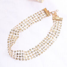 SexySequin Choker Necklace Chunky StatementBib Pendant Chain Necklace Jewelry be