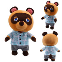 "10"" Animal Crossing Tom Nook Plush Toy Soft Stuffed Raccoon Doll Anime Game Gift"