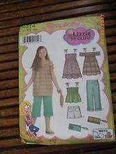 "Girls Pattern Simplicity 4614 Sz 7-8-10-12-14  ""Lizzie McGuire"" 2005 Uncut"