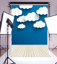 Vinyl Photography Backdrops Blue Sky And White Clouds 3D Wall Background