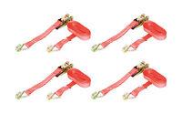 4 x 1000kg 25mm x 5m Heavy Duty RATCHET STRAP Tie Down 1 Ton (1250kg webbing)
