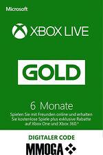 Xbox Live Gold Mitgliedschaft - 6 Monate - Microsoft Xbox 360 Xbox One - EU