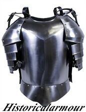 BEST BREAST PLATE JACKET MEDIEVAL SUIT OF ARMOR & SHOULDER,HALLOWEEN COSTUME NEW