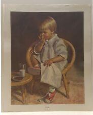 Vintage Lithograph Art Print Grtechen Child Portrait James Ingwersen