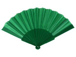 Windfächer Fächer grün 14 Sticks Länge ca. 23 cm Spannweite ca. 43 cm Faltfächer