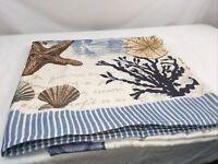 Avanti Antigua Shower Curtain Nautical 72x72 Seashells Starfish Sand Dollar