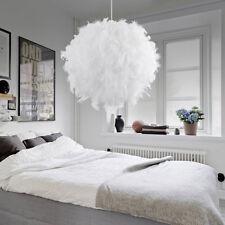 White Feather Ball Droplight Romantic Pendant Lamp Light Ceiling Modern Decor