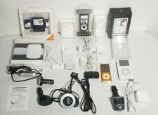 """Vintage """"Apple iPod"""" Lot Of 3 With Accessories"""