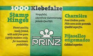 Prinz 1000 finest (German) quality, acid-free, pre-folded removable stamp hinges