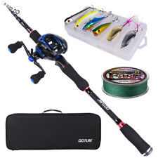 2.1M 2.4M Casting Fishing Rod Combo Medium Travel Rod Baitcasting Reel Full Kit