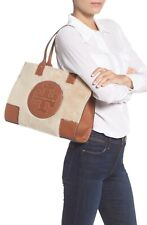 NEW TORY BURCH Ella Shearling Mini Tote In Cocoon