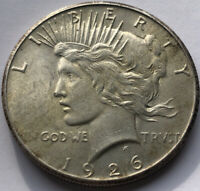 1926 Peace Silver Dollar in a SAFLIP® - AU