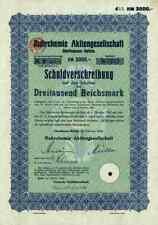Ruhrchemie AG 1934 Oberhausen Essen Degussa Hoechst Bond 3000 RM Celanese Krupp