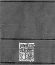 TAHITI Sc 17(YT 19)F-VF USED, 1893 1c BLACK/AZURE, SCARCE, h/s BRUN ET AL, $1750