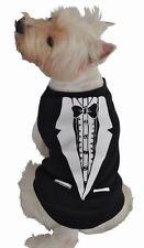Ruff Ruff and Meow Tree Hugger Dog Pet Shirt Small Black & White