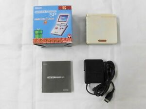 W4817 Nintendo Gameboy Advance SP console Famicom color Japan GBA w/box adapter