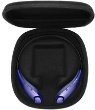 Bluetooth Headphones Wireless Neckband Headset Call Vibrate Alert + Case Blue