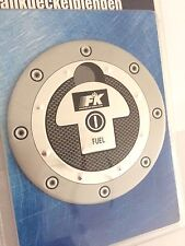 Tankdeckelblende Fuel Cap ALU Look Abdeckung * ca. Ø 132 FK-Automotive universal