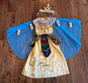 Girls Pink Cleopatra Costume Kids Egyptian Princess Dress Queen of The Nile Outfit