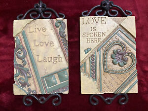 2 - Love Quotes Ceramic Home Decor Wall Hangings