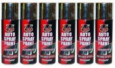 6 X Chrome Foil Paint Mirror Metallic Effect Spray Paint Auto DIY Car Aerosol