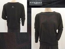 Richmond Camicia Pullover Maglione Girl Girocollo finemente lavorato a maglia raglanärmel Nero M L