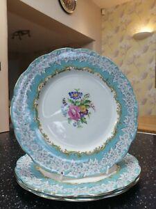 "3 x Royal Albert ENCHANTMENT 9.25"" breakfast plates - unused"