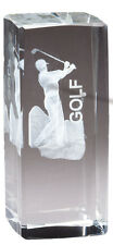 Male Or Female Crystal Golf Award Trophy Free Engraving W/ Lined Box M*Cry1213