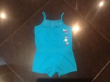 Juicy Couture New & Gen. Baby Girls Turquoise Cotton Play Suit 6/12 MTHS & Logo