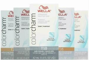 Wella Color Charm Permament Liquid Hair Color Toner T18 T11 T35 9N 042 050 T35
