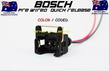 Bosch EV1 Injector Connector Pre Wired Plug wires Quick Release With Seals