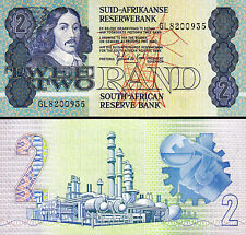 SOUTH AFRICA 2 RAND 1983 1990 UNC P-118 D