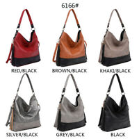 Women's Designer made Bucket Style faux leather  black trim Top Handle bag