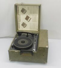 Audiotronics 300A Portable Vintage Record Player Phonograph Turntable Works!