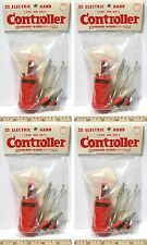 4pc Vintage TRADESHIP 1/24 1/32 Slot Car STANDARD CONTROLLER Wh +Alligator Clips