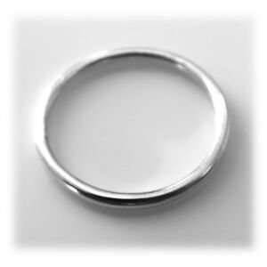 1.5mm Solid 925 Sterling Silver Round band Stacking Ring Polished Finish